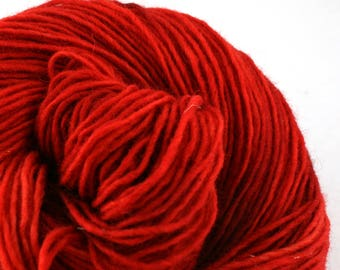 Valkill Hand Dyed DK weight NYS Wool 252yds/ 230m ~4oz/113g Red Light