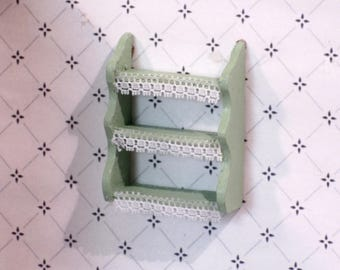 Miniature handmade painted wall shelves