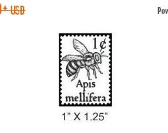 Luck of the Irish Bee Faux Postage Stamp Mail Art Rubber Stamp 170