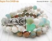 Peruvian opal bracelet, chrysoprase bracelet, bird bracelet, white turquoise bracelet, magnesite, boho bracelet, boho jewelry, kyanite