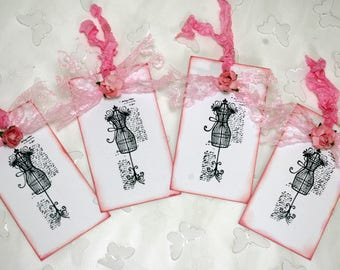 Mannequin Gift Tags French Chic