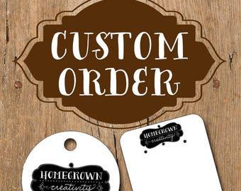 Custom Order Jewelry Display Cards for viictoiire