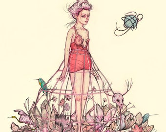 Sybil and the Spoilt Garden - Print