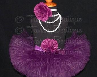 SUMMER SALE 20% OFF Girls Tutu - Eggplant - Plum Purple Tutu - Custom Sewn Tutu - Up to 8'' length - sizes Newborn to 5T