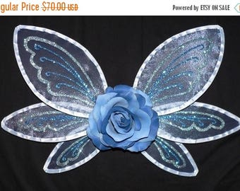 SUMMER SALE 20% OFF Custom Small Sparkle Fairy Wings, Handmade Wings, Pair with a tutu to make a perfect Halloween Costume