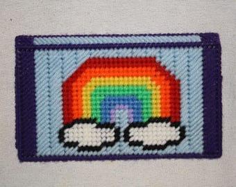 Rainbow checkbook cover
