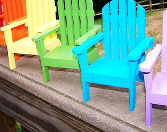 Playscale 1:6 Blythe Pullip Barbie DAL YoSD Adirondack Chair in 6pc Rainbow Set