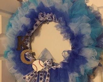 CUSTOM - MLB Team Spirit Tulle Wreath