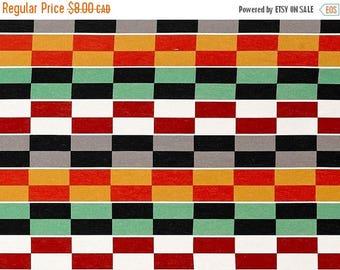 SALE - Checkerboard Stripes - IKEA Helsinge Cotton Fabric