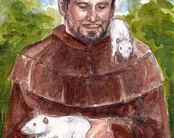 St Francis of the Rats ACEO