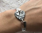 Heart spoon handle bracelet