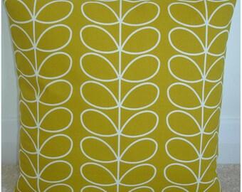 "16x16 Zippered Pillow Cover Orla Kiely Linear Stem Dandelion 16"" Square Accent Decorative Throw Cushion Case Sham Slip Retro Zipped"