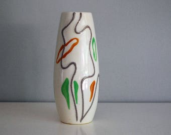 Modernist Porcelain Vase, Japanese Studio Pottery, Mid Century Modern Vase, Fine Art Ceramic, Vintage Art Pottery, Abstract MCM