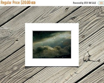 40% OFF SALE Abstract Wall Art Clouds and Rain Dark Night Sky Picture 5x7 inch Fine Art Photograph Matted to 8x10 inches At Tara In This Fat