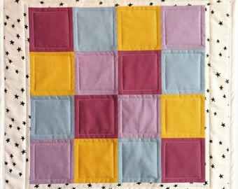 Mini Play Quilt - Plum and Star