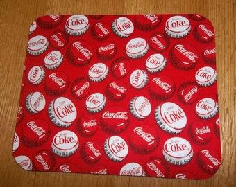 Mouse Pad, Coke, Coca-Cola,  Bottle Caps, Mouse Pads, Desk Accessories, MousePad, Rectangle, Mouse Mat, Office Decor, Handmade, Computer