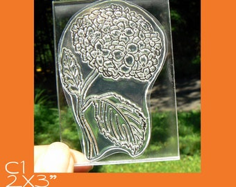 C1 Chrysanthemum flower clear mounted rubber stamp