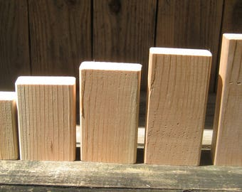 Unfinished 2x4 wood blocks for DIY'ers