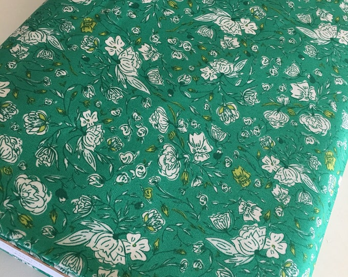 Floral fabric, Gift for Quilter, Quilting fabric bundle, Green fabric, Christmas Gift, Floralia Blossom Drifts- Choose the cut