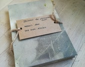Red Norway Maple (an ecoprinted notebook)