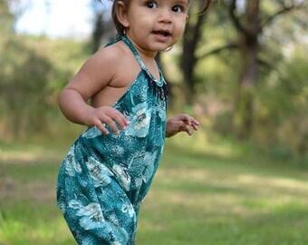 SALE Boho Knit Romper Pattern sizes newborn - size 12 youth