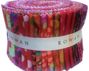 "Kaffe Fassett Collective CLASSICS RED Design Roll 2.5"" Fabric Strips Jelly Roll Westminster Fibers"