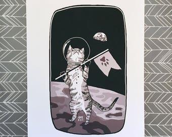 "Catronaut Digital Art Print - 8.5 x 11"""