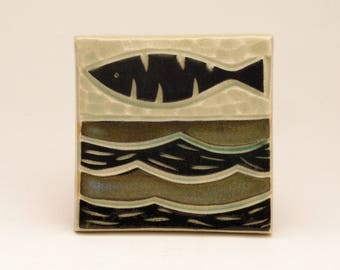 Fish & Waves- 3x3 tile- Ruchika Madan