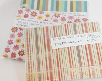 Six Matchbox Notebooks