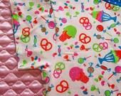 Junk food clothing, fairy kei decora candy boxy tee blue polka dot plus size XL 2X extra large