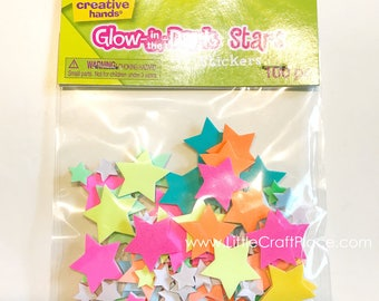 Glow-In-The-Dark Stars Foam Stickers 100/Pkg (1076E) Glow In The Dark Star Sticker