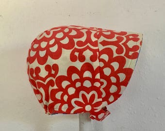 SALE--Reversible Sun Bonnet--3-6 months--Ready to Ship