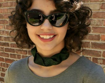 Green Choker - Hipster Jewelry - Gift For Her - Fabric Choker - Hipster Necklace - Hipster Clothing - Emerald Green Choker. 23