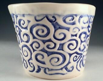 One of a Kind Handmade Porcelain Pot