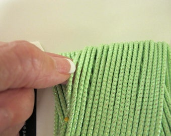 11 yards Round woven flash cord APPLE GREEN FLASH for kumihimo macrame sewing braiding 3 mm thick #5090-C Free Shipping