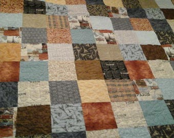 King size shabby chic quilt