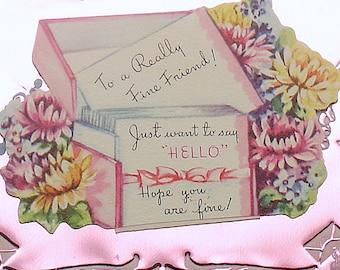 Vintage Friendship Card Flowers