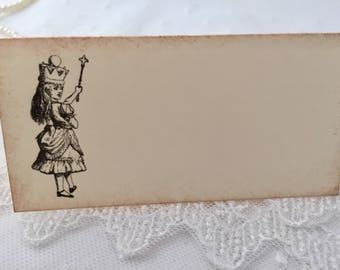 Alice in Wonderland Place Cards, Alice Placecards, Baby Shower, Bridal Shower, Birthday Set of 10
