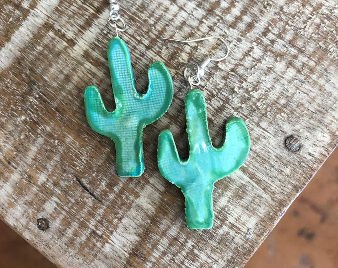 Ceramic Cactus Earrings