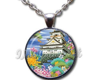 20% OFF - Asian House Home Colorful Glass Dome Pendant or with Chain Link Necklace AP144