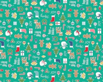 20EXTRA 25% OFF Lori Holt Cozy Christmas Main Teal