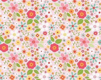 EXTRA15 20% OFF Riley Blake Designs Garden Girl by Zoe Pearn - Floral Pink