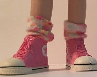 Little Pink Flower Short Socks...For Blythe...