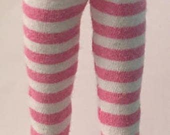 Pink And White Striped Tights...For Blythe...