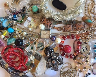 Jewelry Craft Destash Lot-60+ Pieces of Vintage and Newer Findings-Altered Art, lot 2