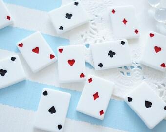 8 pcs Playing Card Cabochon (16mm22mm) DR509
