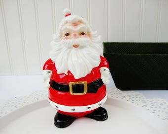 vintage santa claus lefton ceramic figurine pick holder