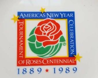 Vintage Tournament of Roses Souvenir Plate 1989 Centennial