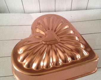 Copper Heart Shaped Mold/Gelatin/Soap Making/Candle Making