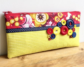 Felt and fabric pencil case